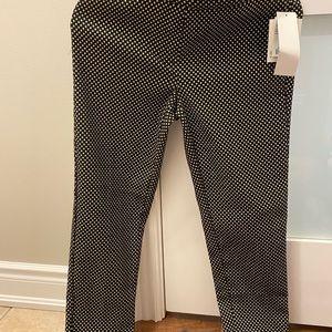 Black and gold polka dot dress pants